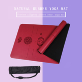 PU Rubber 5mm Yoga Pilates Mat With Body Alignment Lines Manufacturers