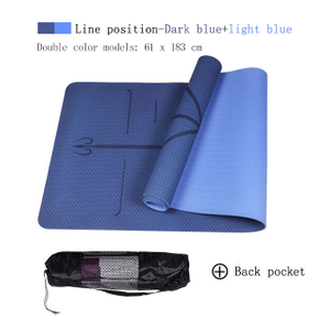 No Slip Good Quality Alignment Yoga Mat 6mm Thick Online