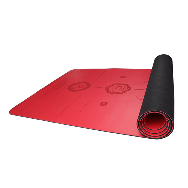 Custom PU Rubber Yoga Mat With Alignment Lines