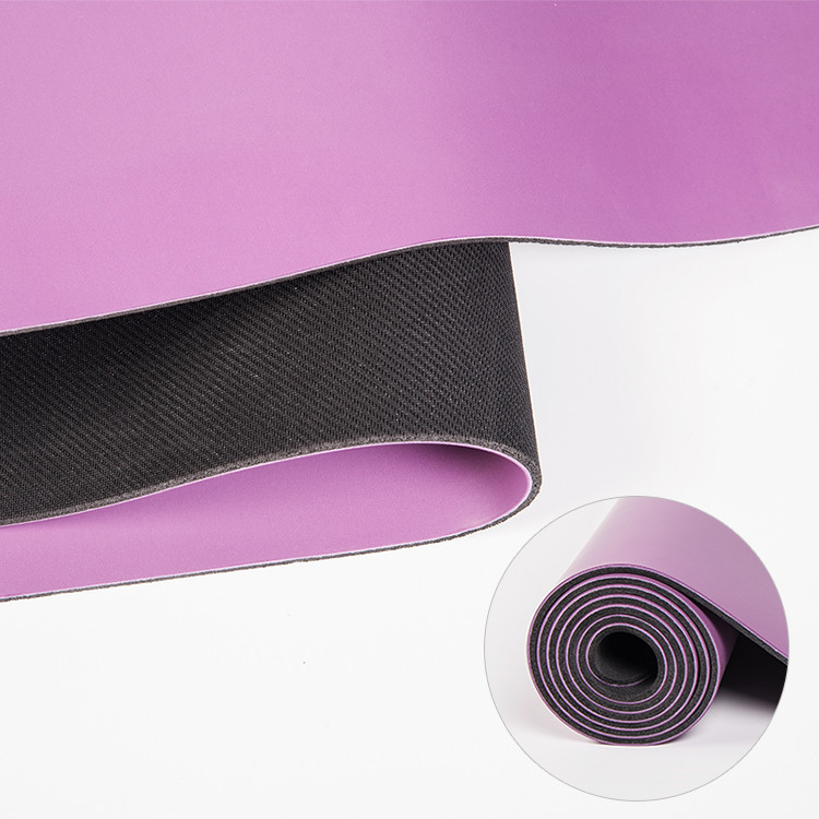 Best Purple Non Slip PU Rubber Yoga Mat Manufacturer