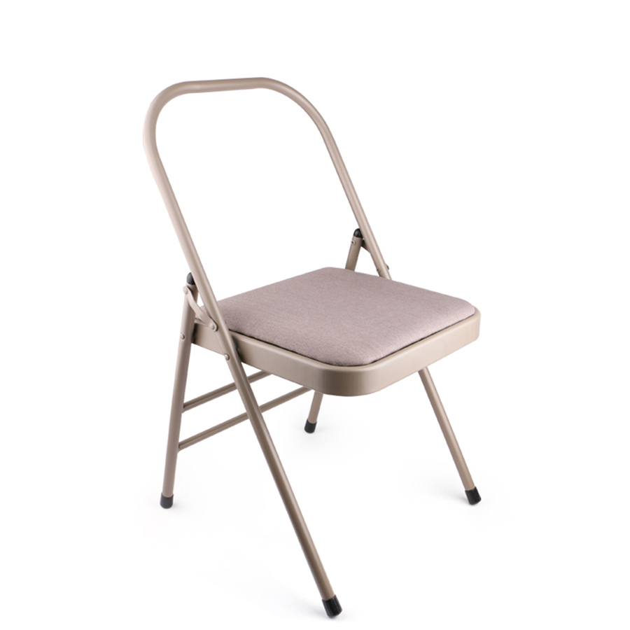Yoga Chair Auxiliary Tool Wholesale Backless metal yoga folding