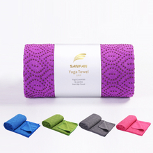 Custom Super Absorbent Odorless Non-Slip Hot Yoga Towel Silicon Dots Recycled Anti Slip Pilates Yoga Mat Towel