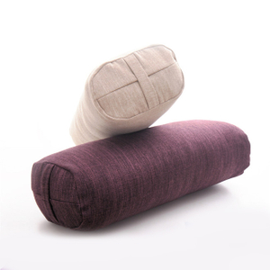 Hot Selling Round Rectangular Shape Organic Yoga Bolster Meditation Pilates Yoga Pillow Buckwheat Cotton Inside