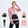 Four pieces suit woman sports wear fitness yoga gym tracksuit