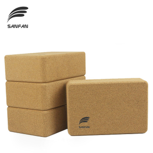 Eco Friendly Custom Logo 100% Natural High-density Cork Yoga Block