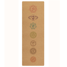 Custom print logo yoga mat anti slip cork rubber yoga mat