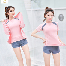 Fitness Yoga Suit for women Show slim Long sleeve Gym Yoga clothes