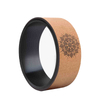 High Quality Eco-friendly Recycled Natural Cork Wood Yoga Wheel