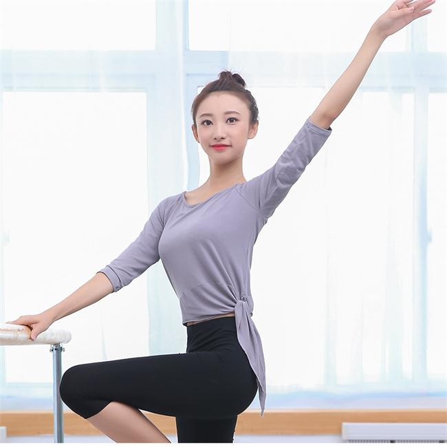 Wholesale fitness cloth custom women yoga short sleeve