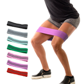 Custom private label cotton fabric elastic fitness hip resistance band