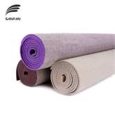 Top Quality Custom Printed Flax Mat Eco Friendly Hemp Jute Pvc Yoga Mat