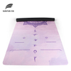Custom Print Eco Friendly Foldable Natural Rubber Microfiber Suede Yoga Mat