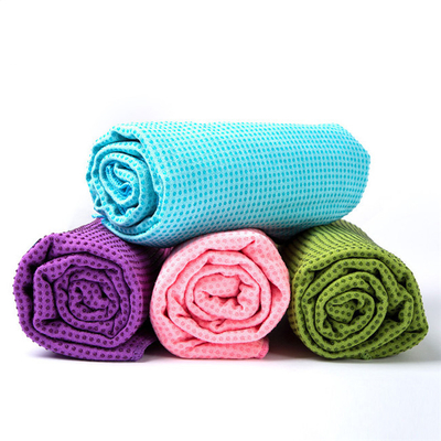 China Factory Custom Logo OEM Non Slip Microfiber Fitness Sports Hot Yoga Mat Towel