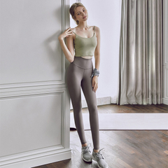 Women's Naked Feeling High Waist Tight Pants Ankle Workout Running Yoga Pants Leggings