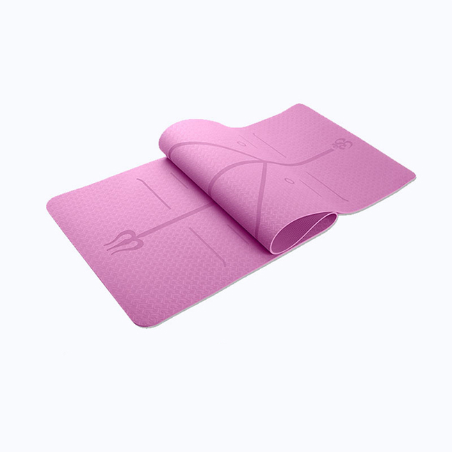 Custom Printed TPE Yoga Mat with Alignment