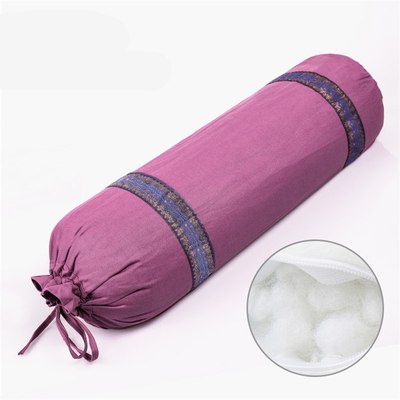 Wholesale Cotton Yoga Round Supportive Pillow, Meditation Pilates Eco Friendly Yoga Bolster
