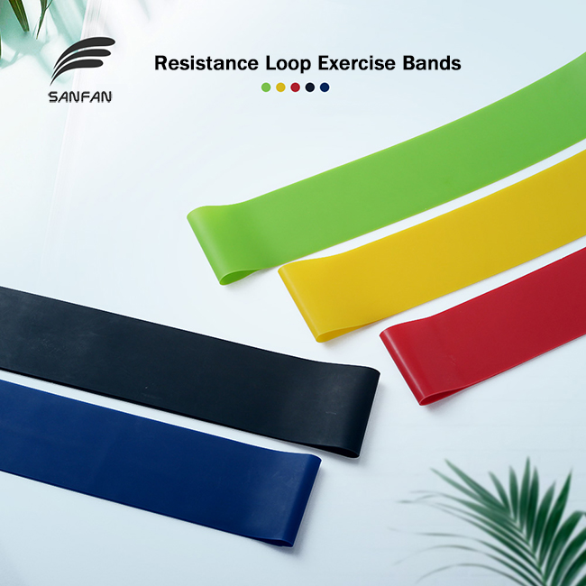 Eco-Friendly Rubber Elastic Body Building Resistance Loop Yoga Sports Exercise Bands Set