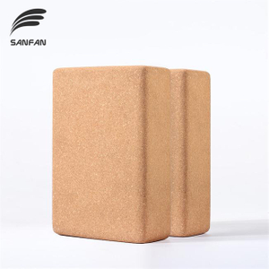 Customized Logo Wholesale High Quality Fitness Lightweight, Odor-Resistant and Non-Slip Surface Eco-friendly Natural Cork Yoga Block