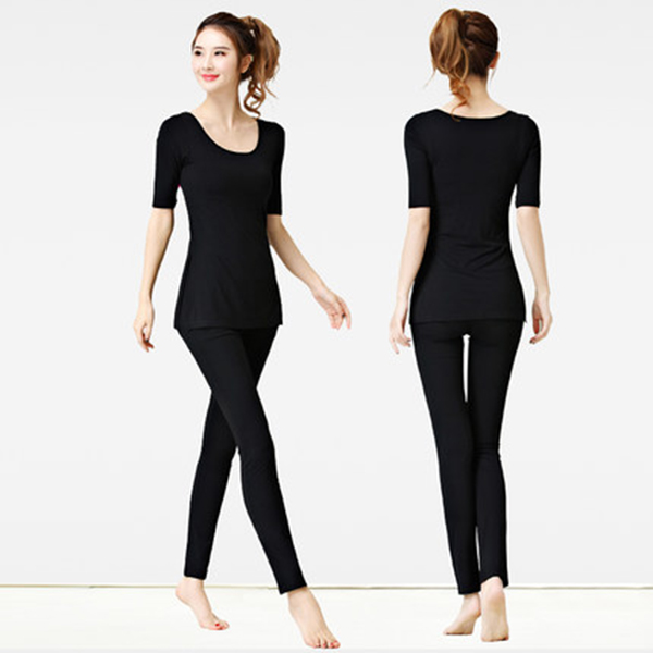 New product sales women sportswear Comfortable and slim Middle sleeve Gym Fitness Yoga Suits