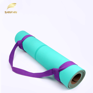 Custom Adjustable Yoga Mat Strap Sling Durable Cotton Yoga Stretch Carrying Strap