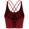 Women's Removable Padded Yoga Gym Workout Fitness Bra Medium Support Workout Sports Bras