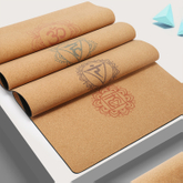 Wholesale Private Label Recyclable Natural PU Suede Kid Cork Rubber Yoga Mat
